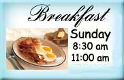 Enjoy A Sunday breakfast at the Moose!