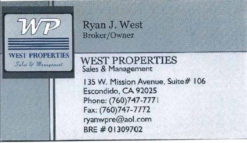 Business card Ryan West copy