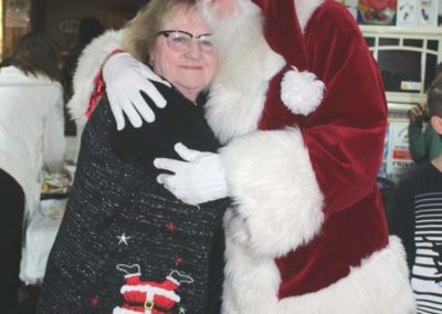 Christmas 2016 Santa and Pat Walker